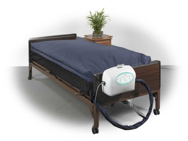 """Drive Medical True Low Air Loss Mattress System with Pulsation, 10"""""""