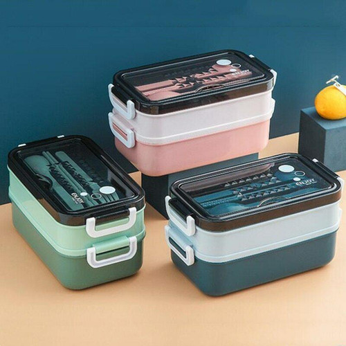 Gear Geek Double Layer Stainless Steel Lunch Box
