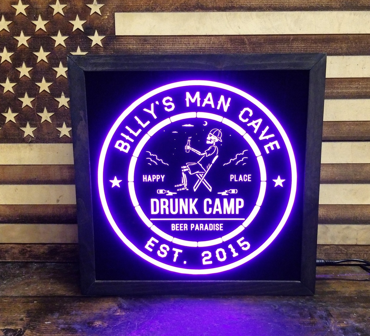 Drunk Bar /& Grill Beer LED Sign Personalized Lighted Sign Home bar pub Sign