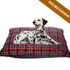 Kosipet Red Check dog bed cushion, machine washable,  removable covers