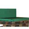 Kosipad Green pallet furniture cushions for Euro Pallets