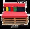 Kosipad Yellow pallet seating Cushions for Euro Pallets
