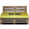 Kosipad Yellow waterproof euro pallet cushions for Euro Pallets