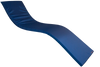 KosiPad Waterproof Sun Lounger Mattress For Garden Royal Blue