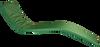 KosiPad Deluxe Waterproof Sun Lounger Mattress For Beach Green