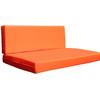 Kosipad Orange foam cushion pads seating Cushions for Euro Pallets