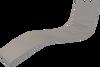 KosiPad Waterproof Sun Lounger Mattress For Garden Grey