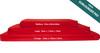 10cm Thick Sun Lounger Mattress, Red Waterproof Sun lounger Cushions Pads - Kosipad