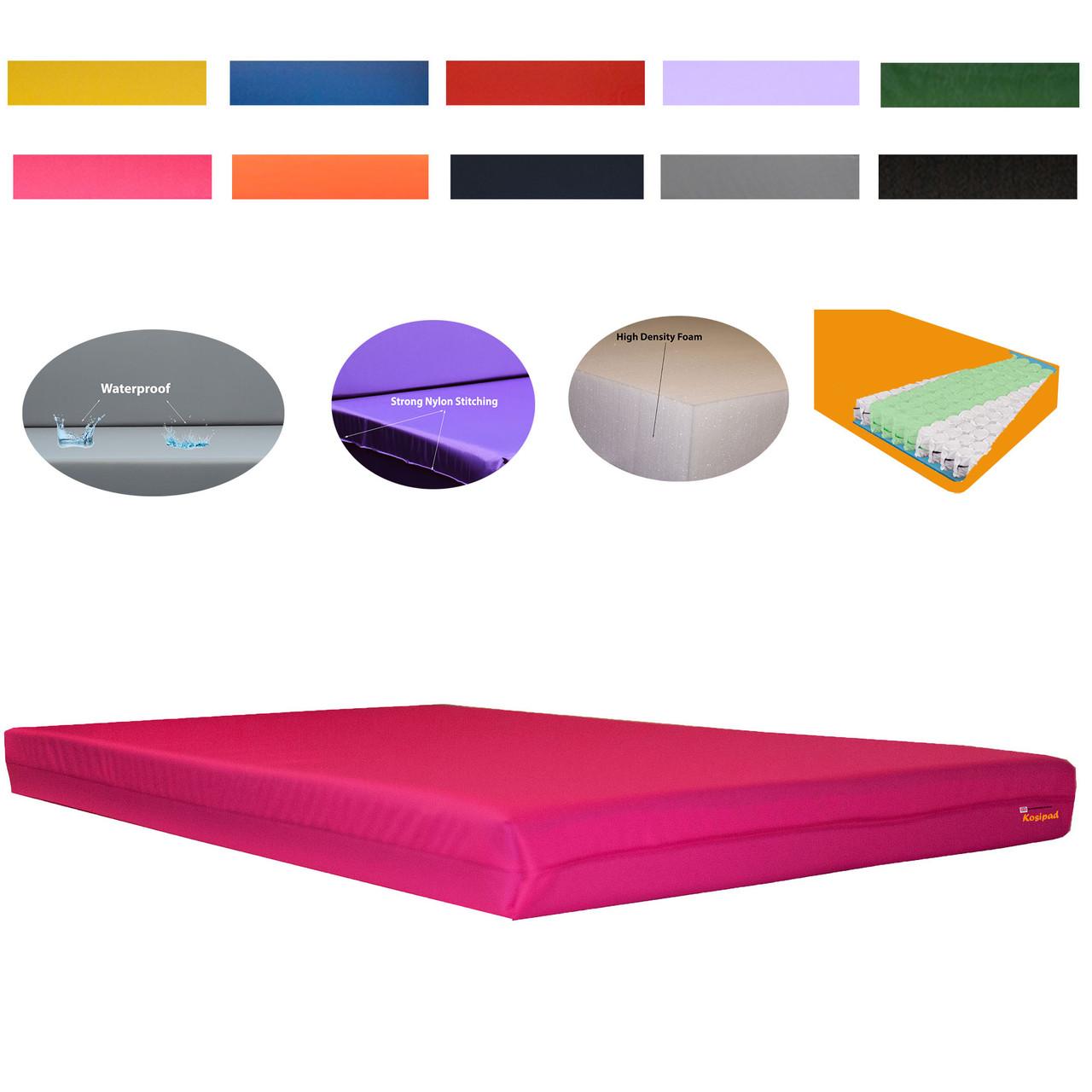 Kosipad 15cm Pocket Sprung Pink high imapct Gymnastics Crash pads