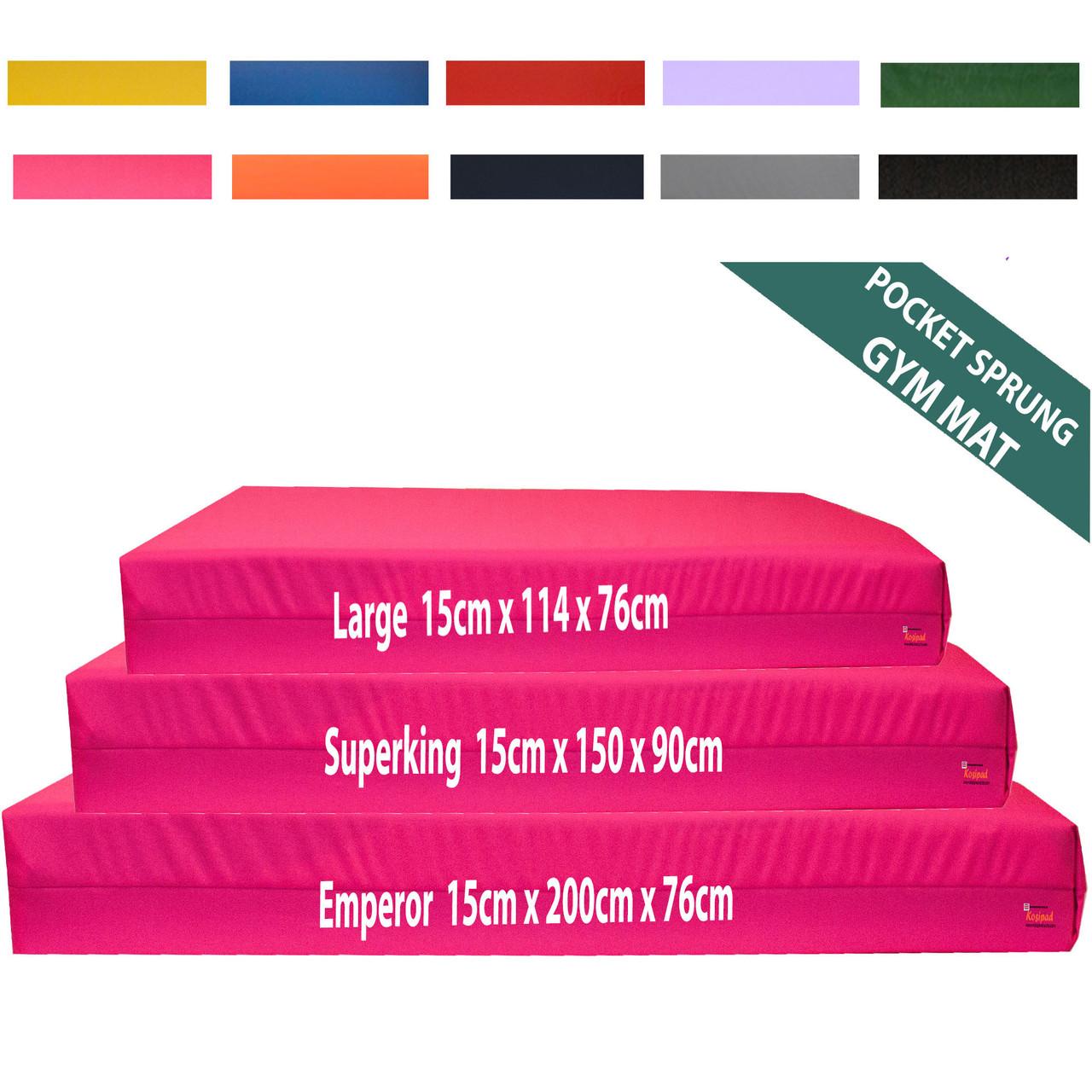 Kosipad 15cm Pocket Sprung gymnastics crash mat Pink