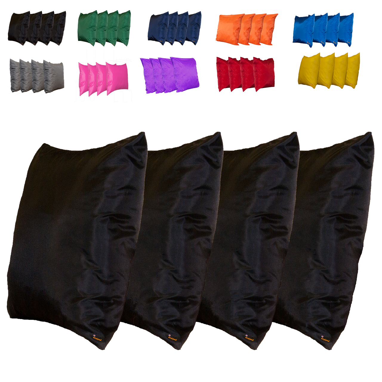 Kosipad Black Square waterproof cushions for outdoor furniture