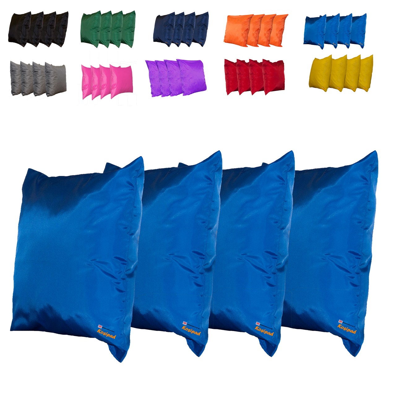 Kosipad Royal Blue Square waterproof cushions for outdoor furniture