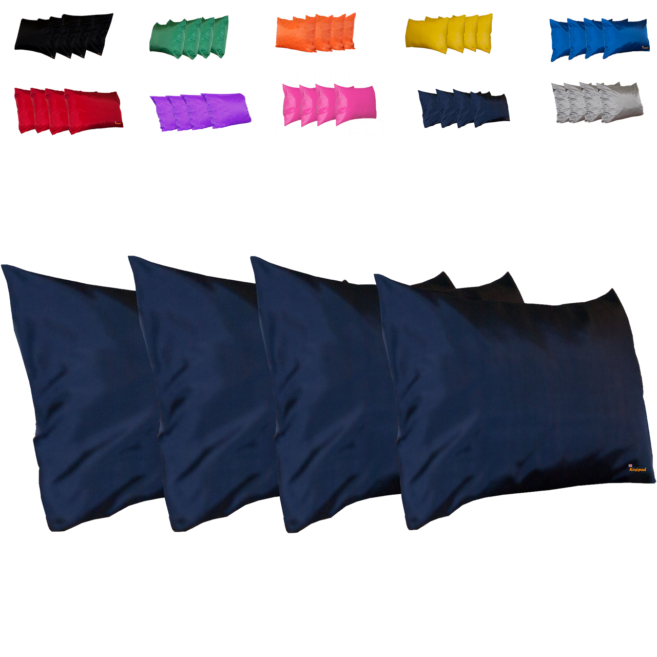 Kosipad Navy Blue Square waterproof seat cushions for outdoor furniture