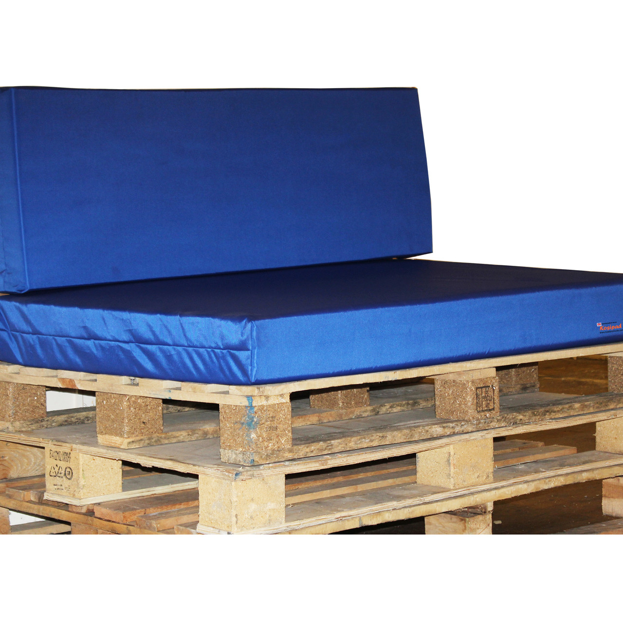 Kosipad Royal Blue cushions for pallet furniture for Euro Pallets