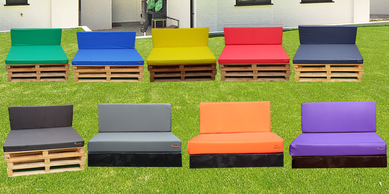 Kosipad Red pallet seating Cushions for Euro Pallets