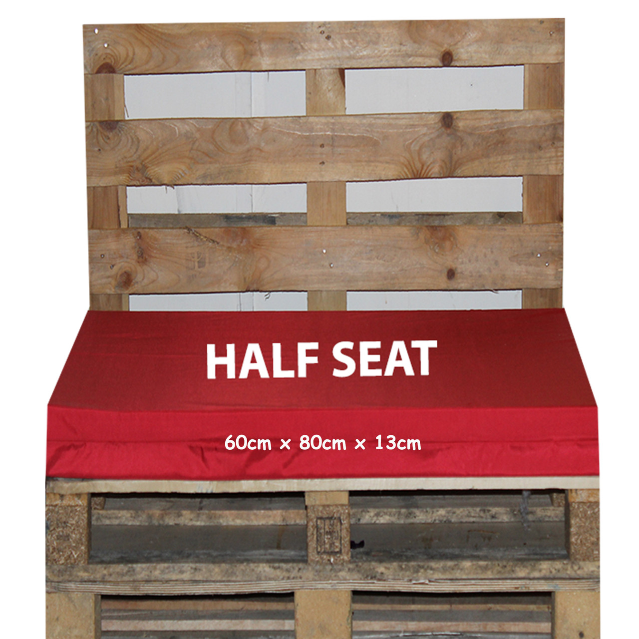 Kosipad Red pallet garden furniture cushions for Euro Pallets