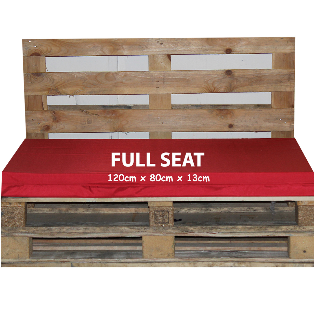 Kosipad Red waterproof euro pallet cushions for Euro Pallets