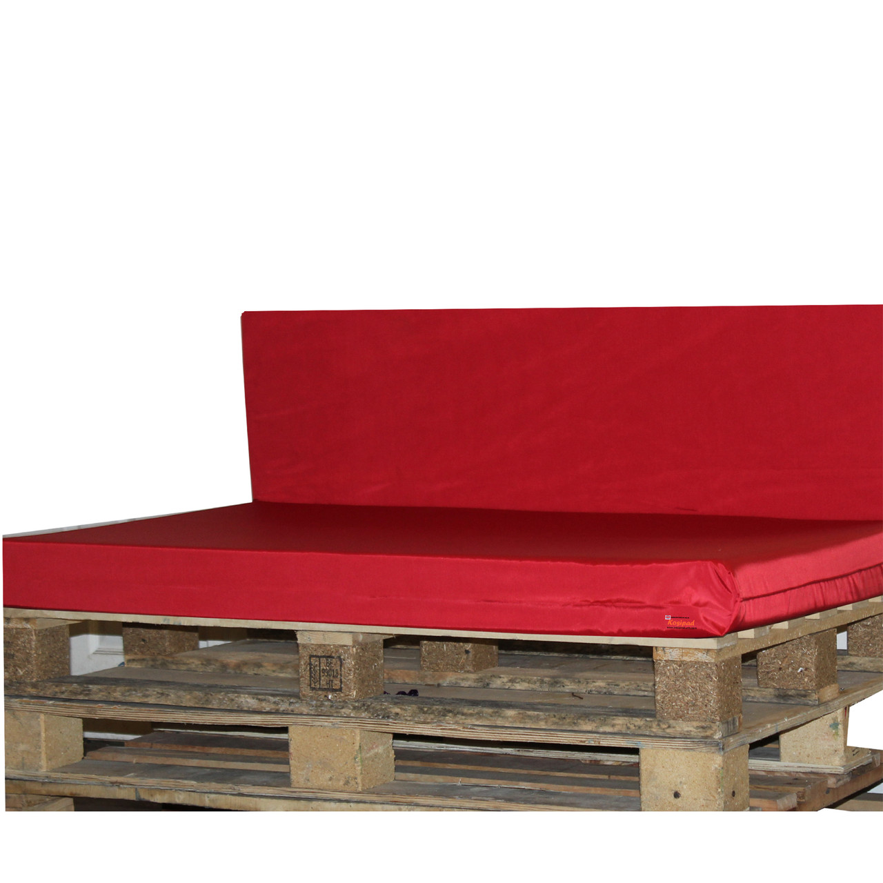 Kosipad Red cushions for pallet furniture for Euro Pallets