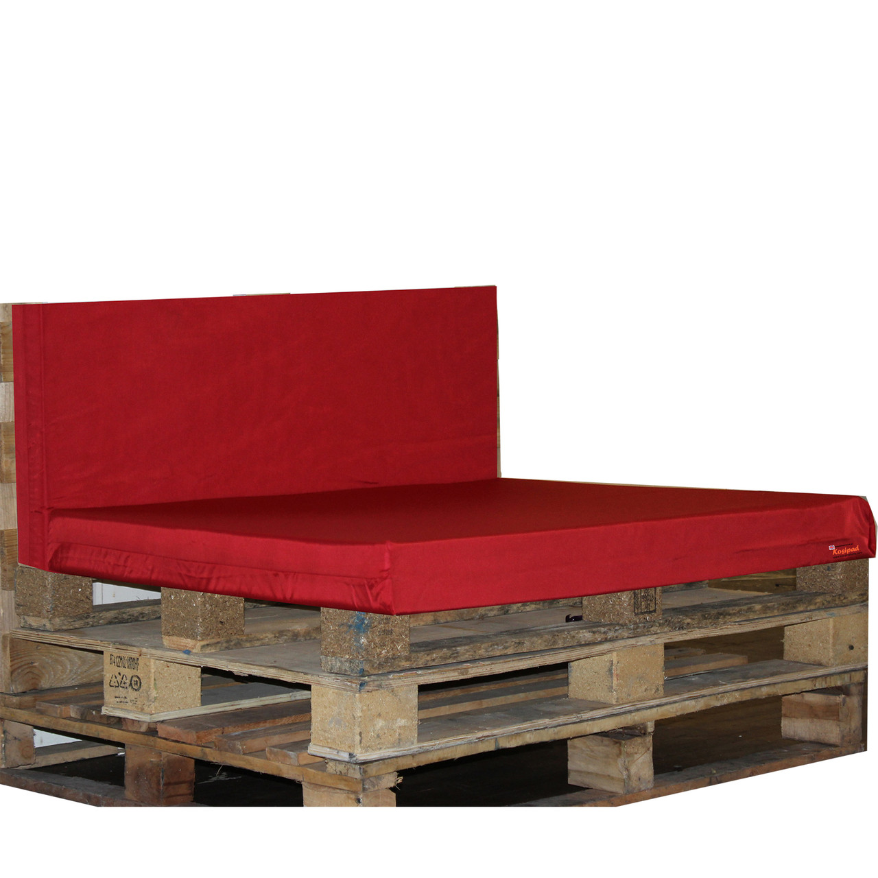 Kosipad Red foam cushion pads seating Cushions for Euro Pallets