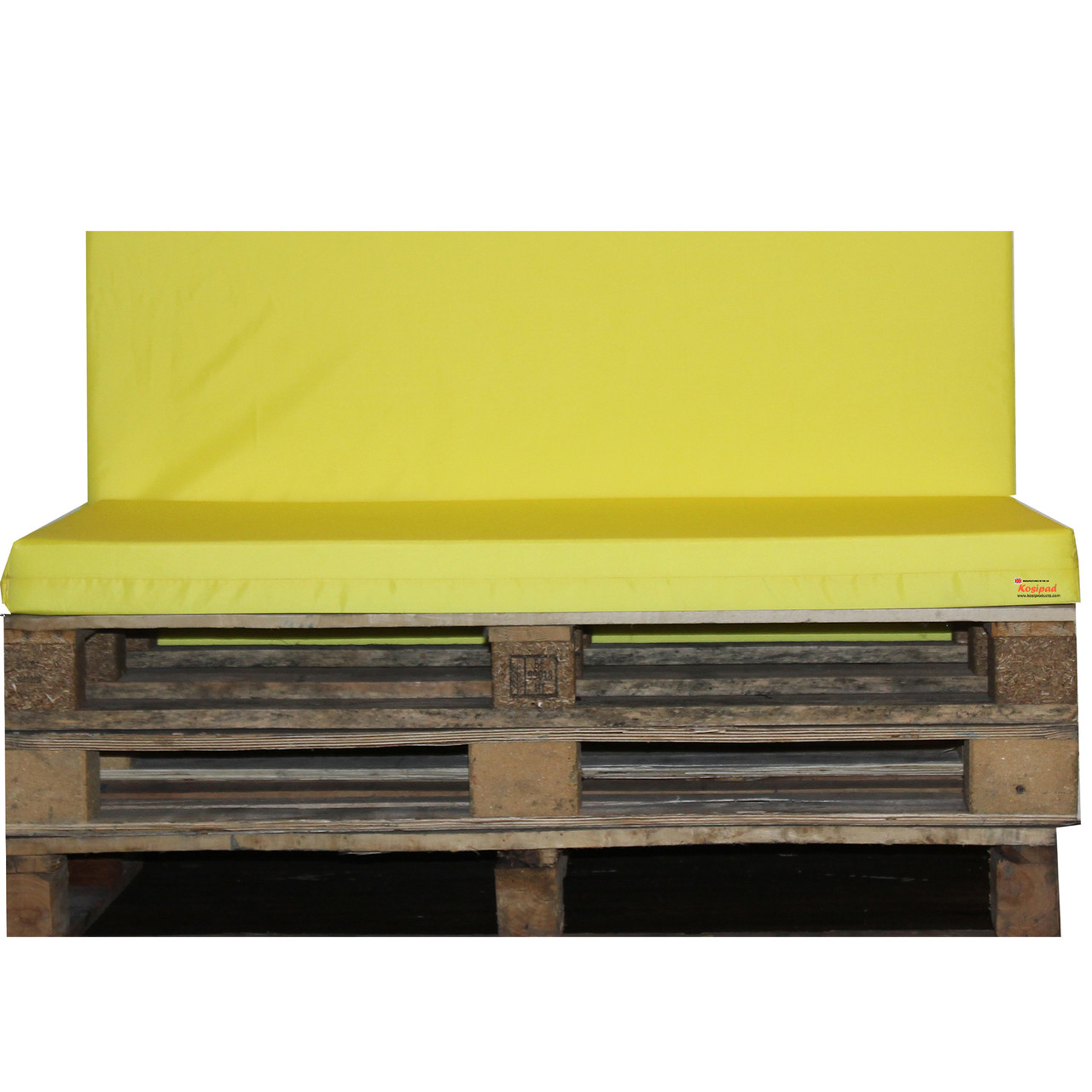 Kosipad Yellow pallet furniture cushions for Euro Pallets
