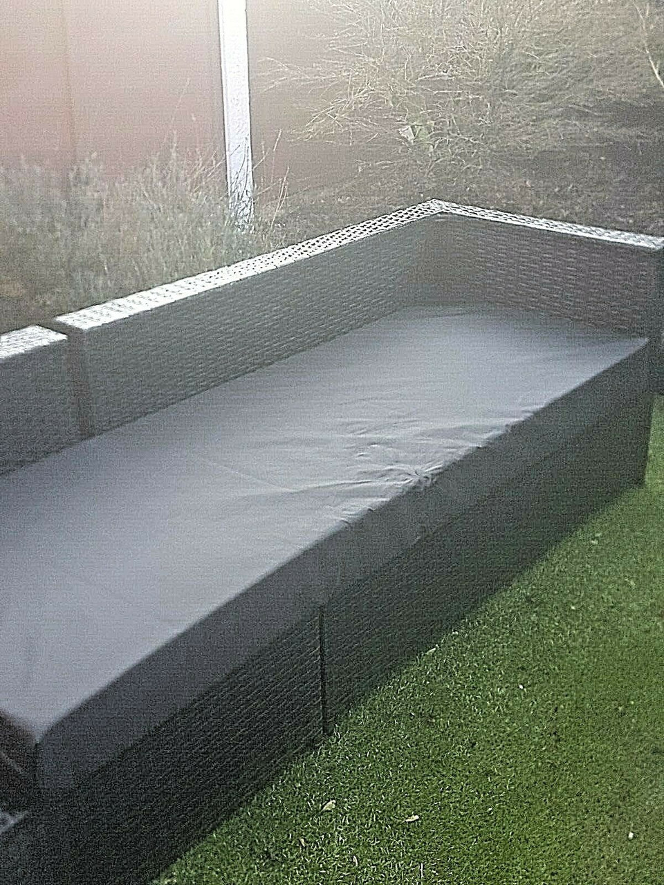 Kosipad Pallet Seating Bench Garden Furniture Foam Pads Waterproof Removable Covers Black
