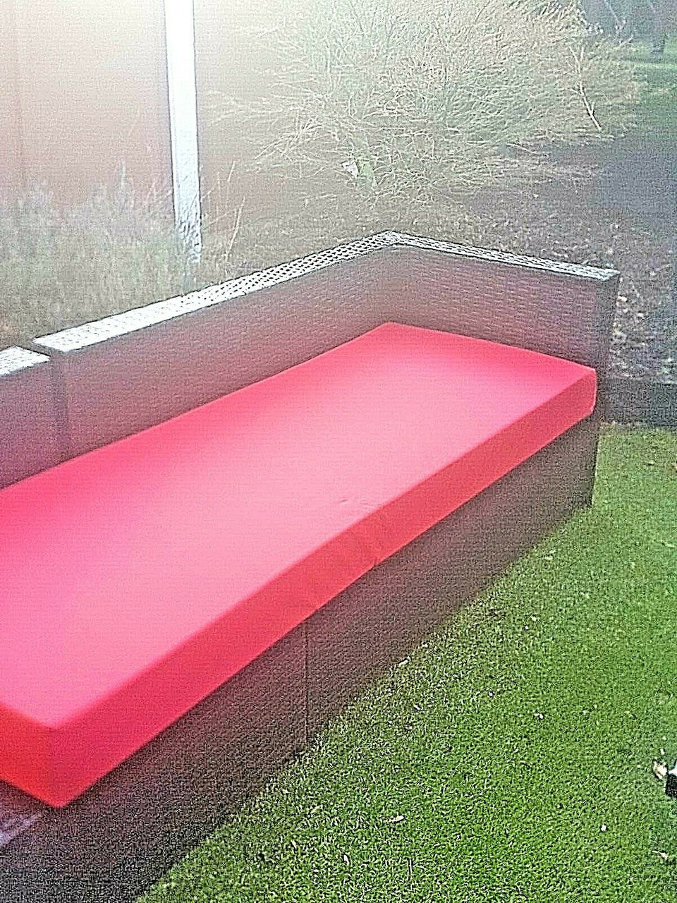 Kosipad Pallet Seating Bench Garden Furniture Foam Pads Waterproof Removable Covers Red