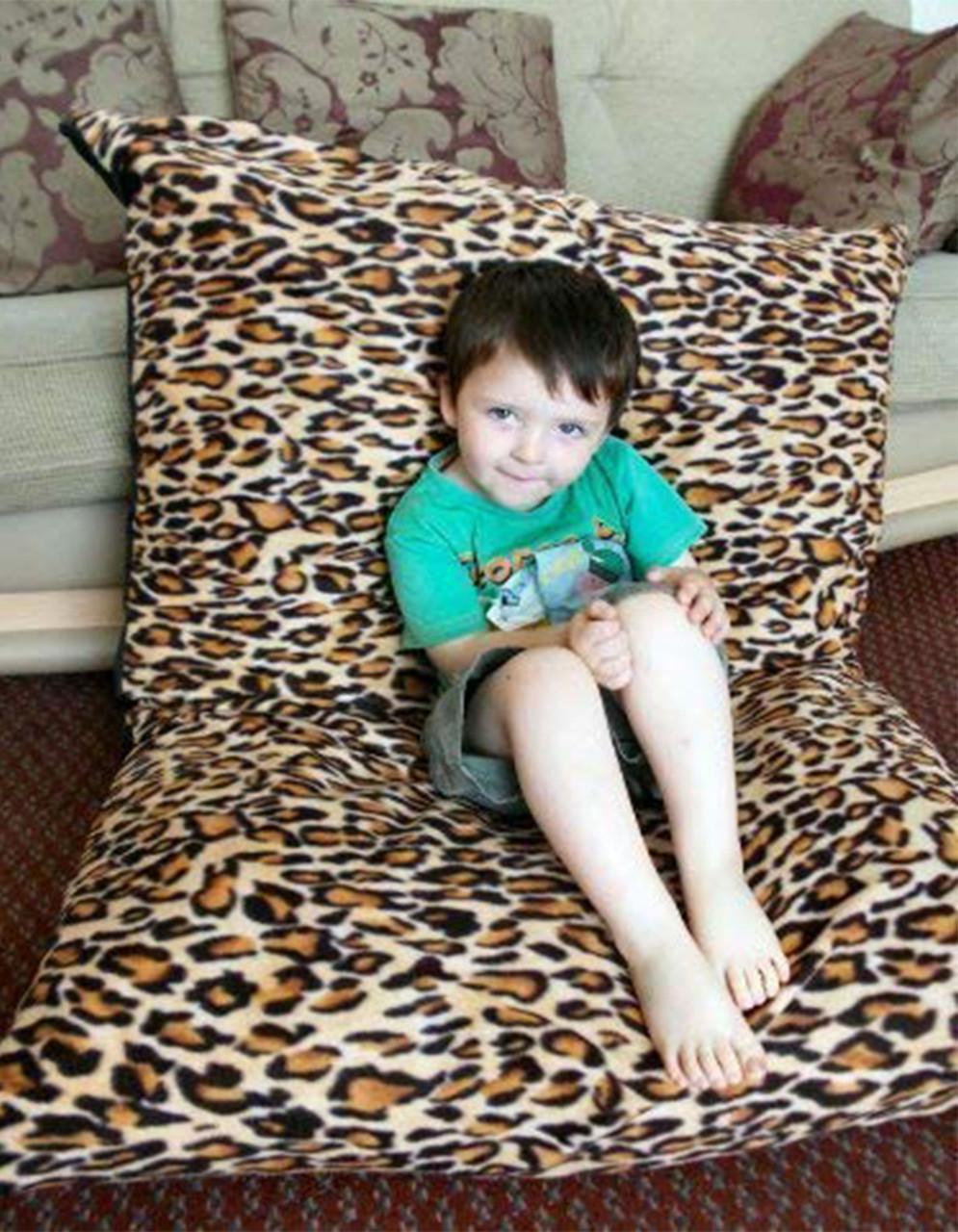 KOSIKUSH® Polar Fleece Spare Cover ONLY Floor Cushion Lounger Beanbag Bean Bag Leopard Print