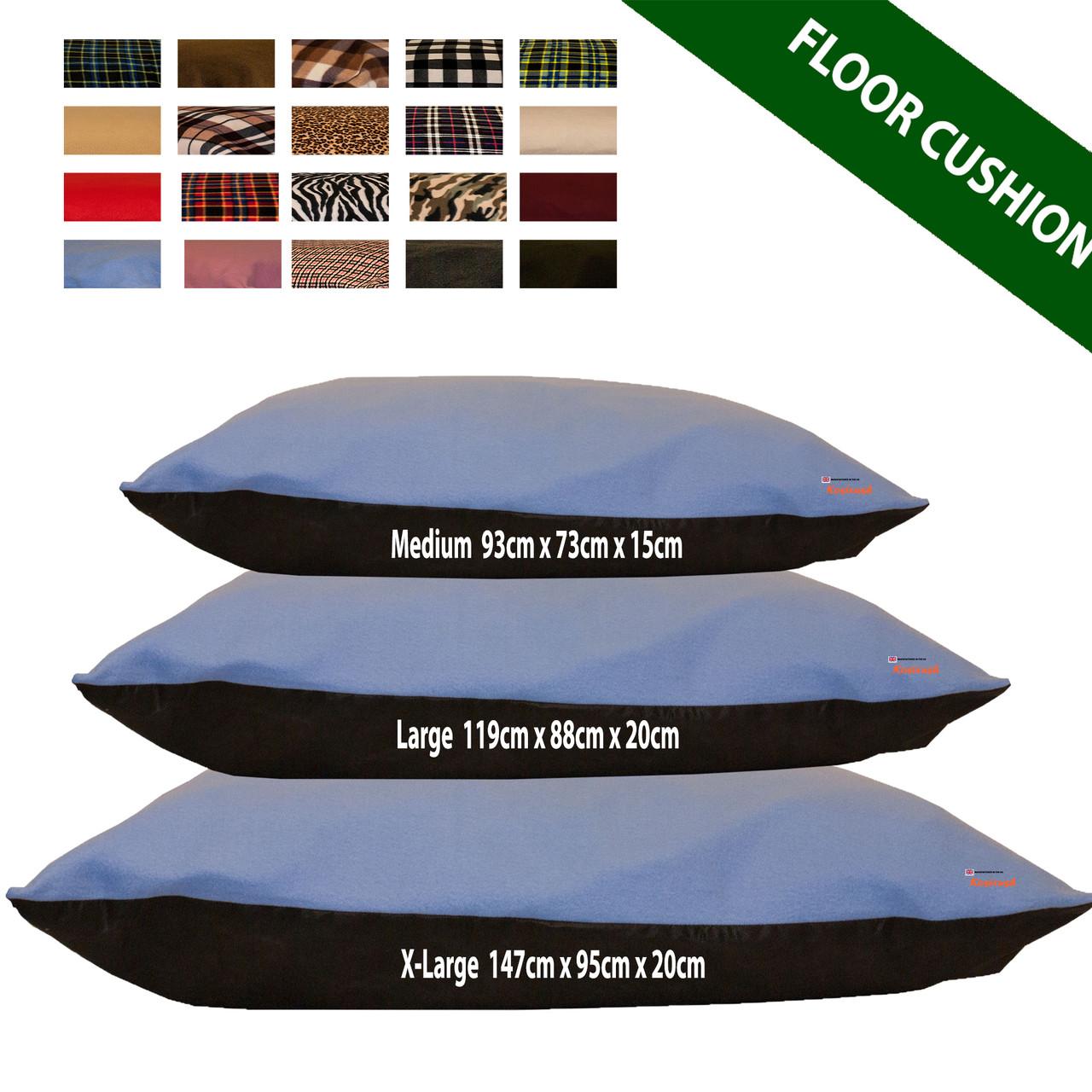 kosikush Baby Blue Large Floor Cushions