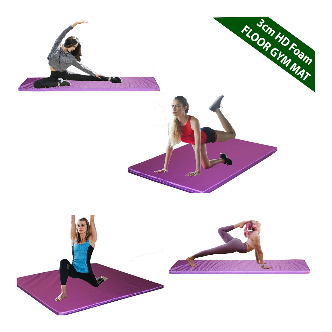 Kosipad 3cm Thick foam floor gym crash mats Purple Main
