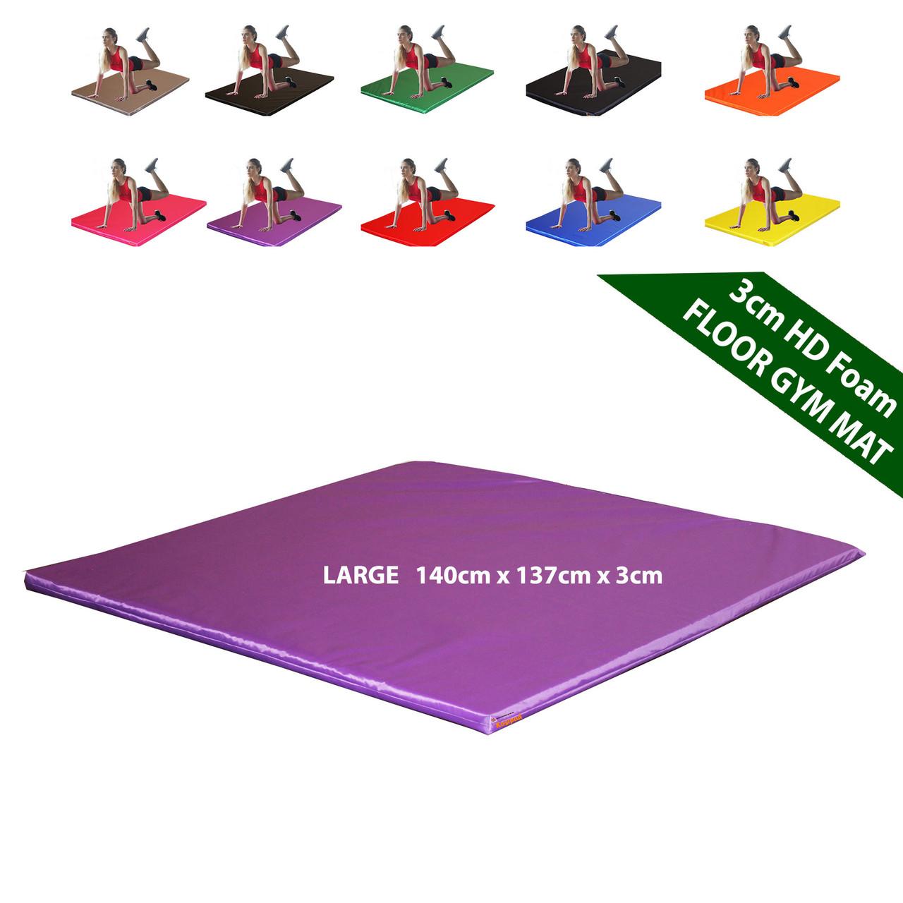 Kosipad 3cm Thick foam floor gym crash mats Purple Large