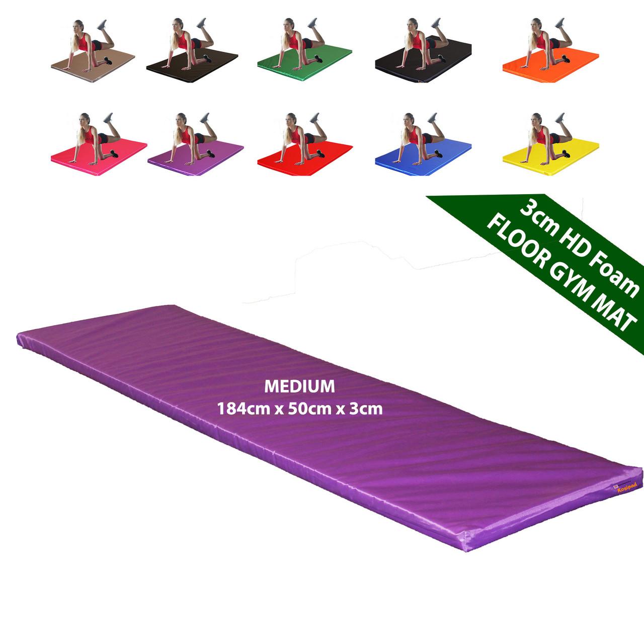 Kosipad 3cm Thick foam floor gym crash mats Purple Medium
