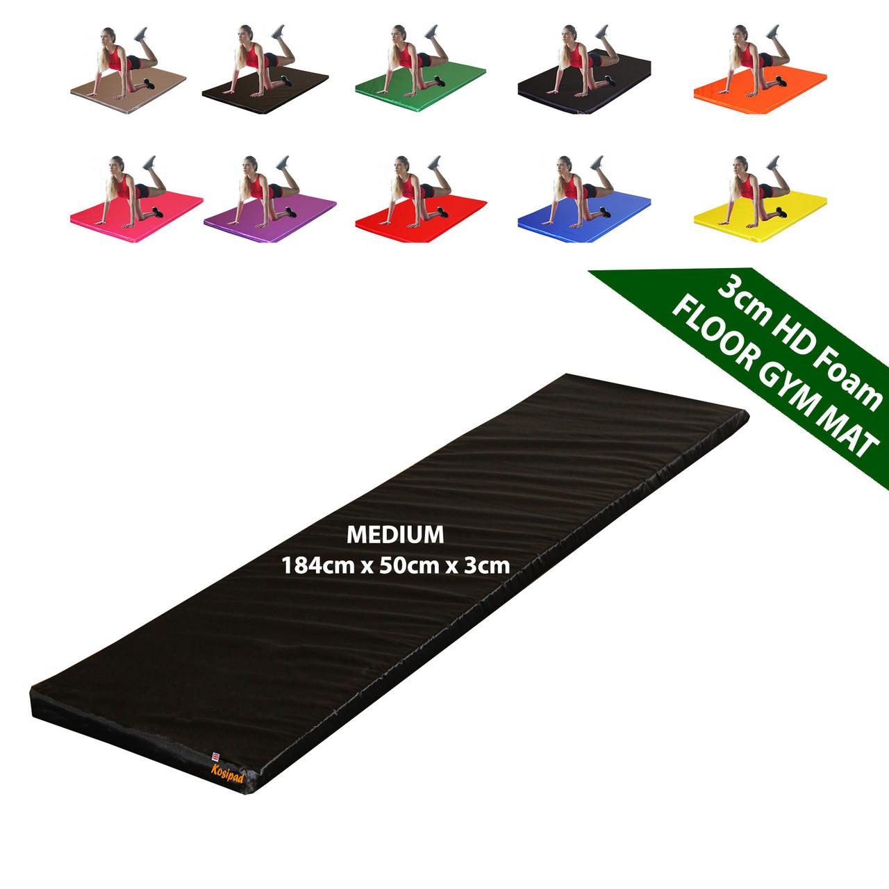 Kosipad 3cm Thick foam floor gym crash mats Black Medium