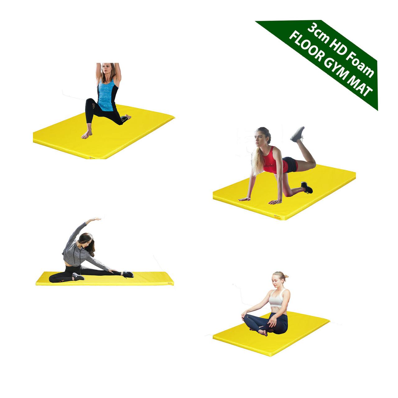 Kosipad 3cm Thick foam floor gym crash mats Yellow Main