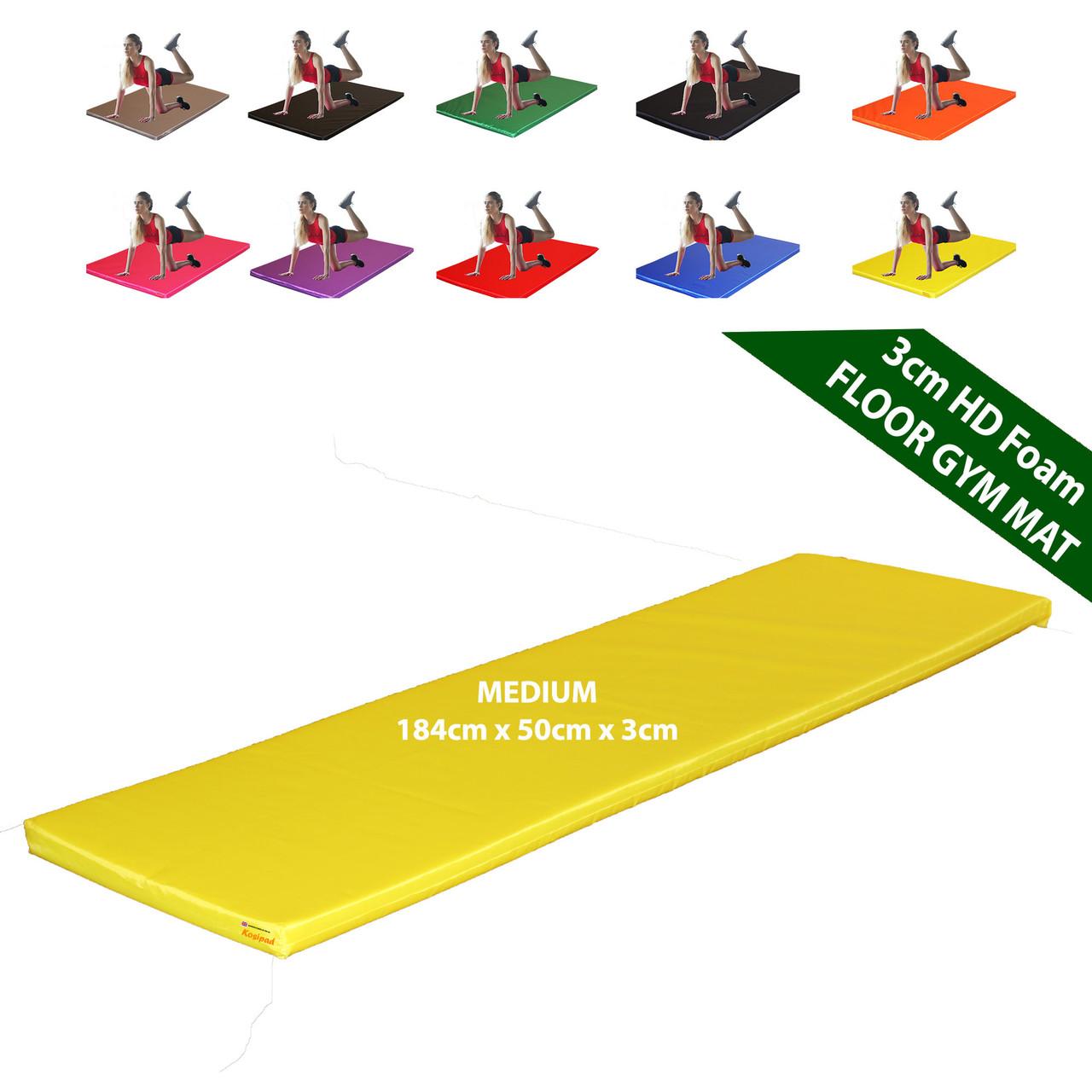 Kosipad 3cm Thick foam floor gym crash mats Yellow Blue Medium 3