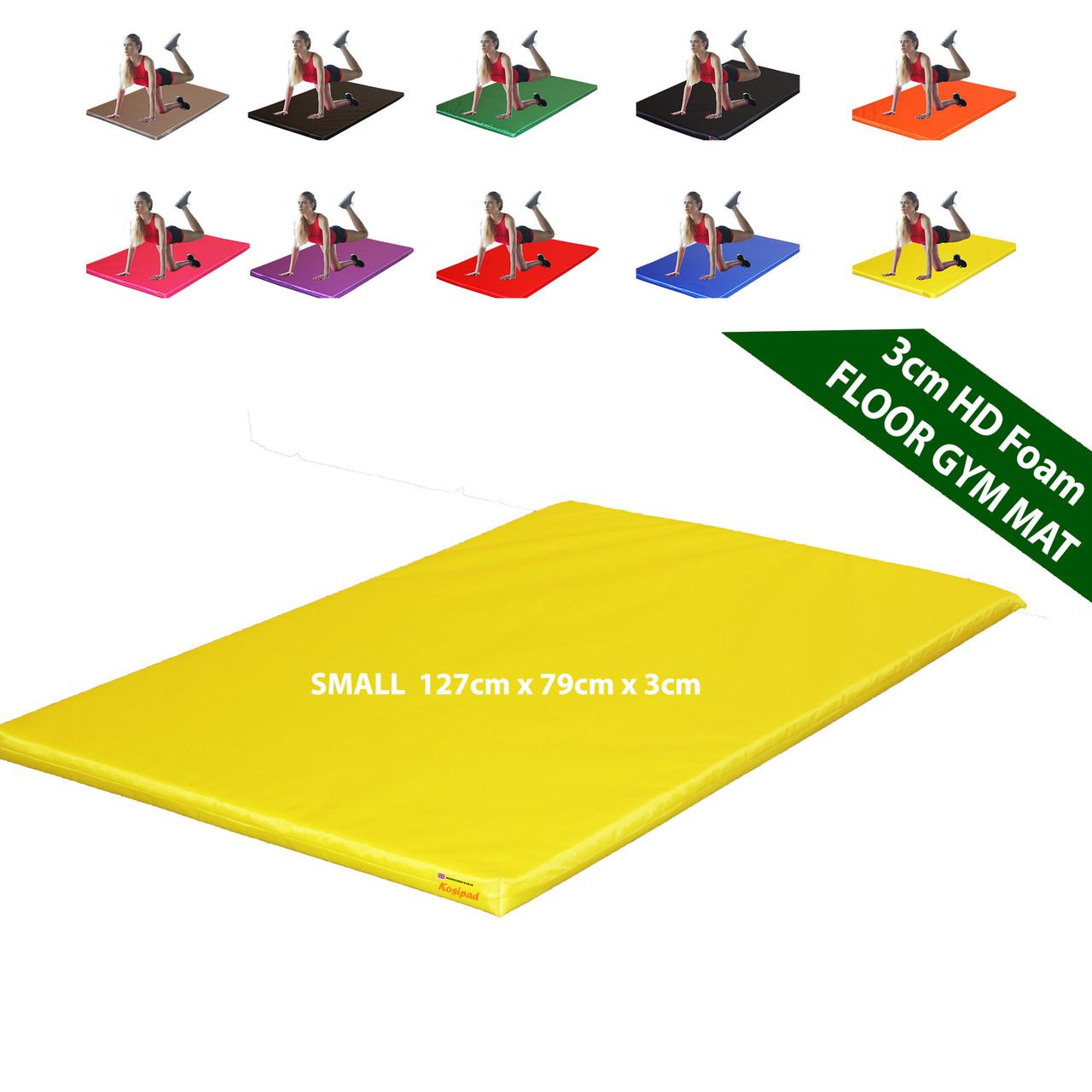 Kosipad 3cm Thick foam floor gym crash mats Yellow Small 3