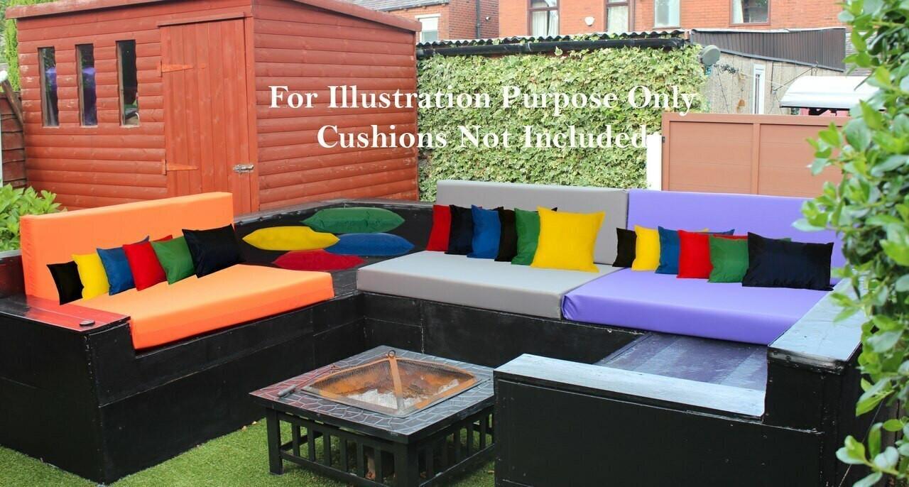 Kosipad Pink waterproof euro pallet cushions for Euro Pallets
