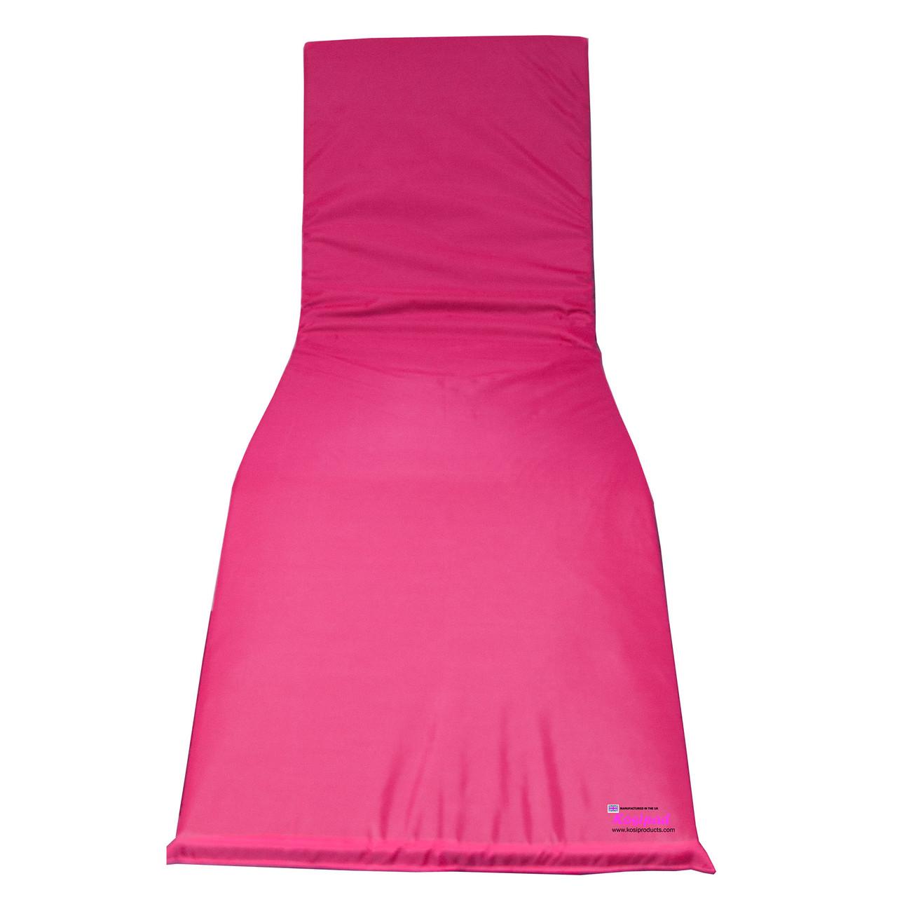 KosiPad Waterproof sun lounger cushion pads Pink