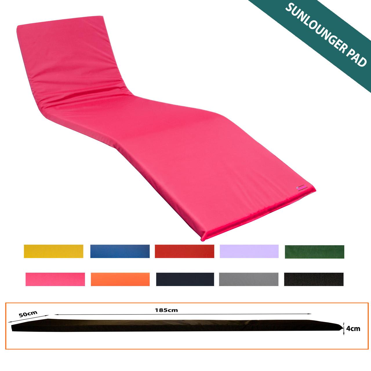 KosiPad Waterproof sun lounger mattress Pink
