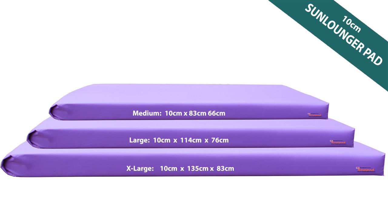 KosiPad Waterproof 10cm sun lounger pad Purple