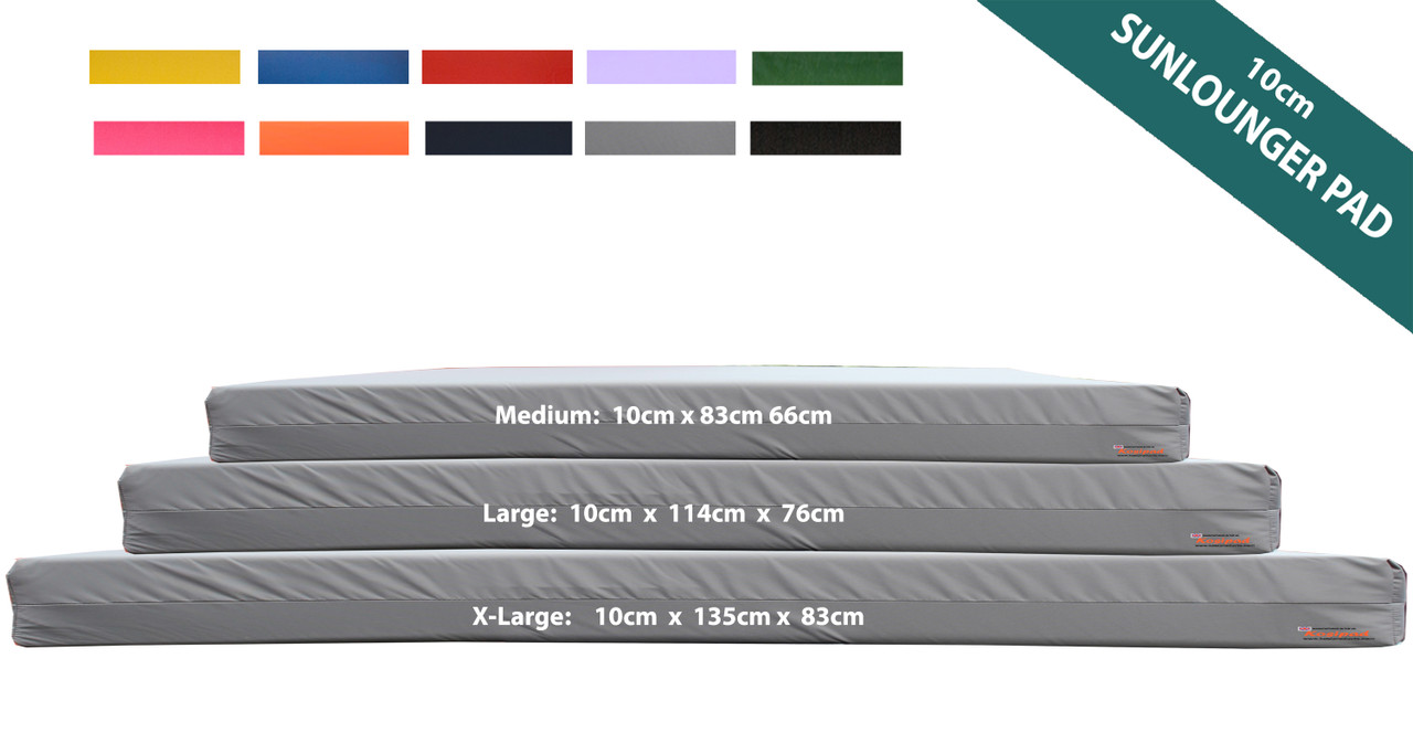 KosiPad Waterproof sun lounger mattress Grey