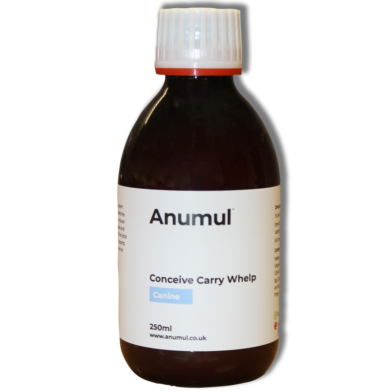 Anumul Conceive Carry Whelp for Pregnant Dogs and Conception 250ml close up