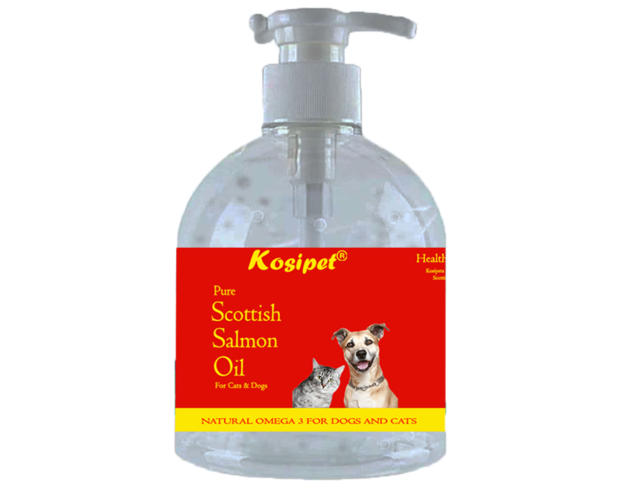 Kosipet Scottish Salmon Oil for Dogs and Cats 1 Litre