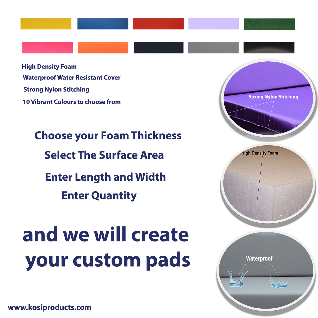 Custom Pad Colours and Specifications