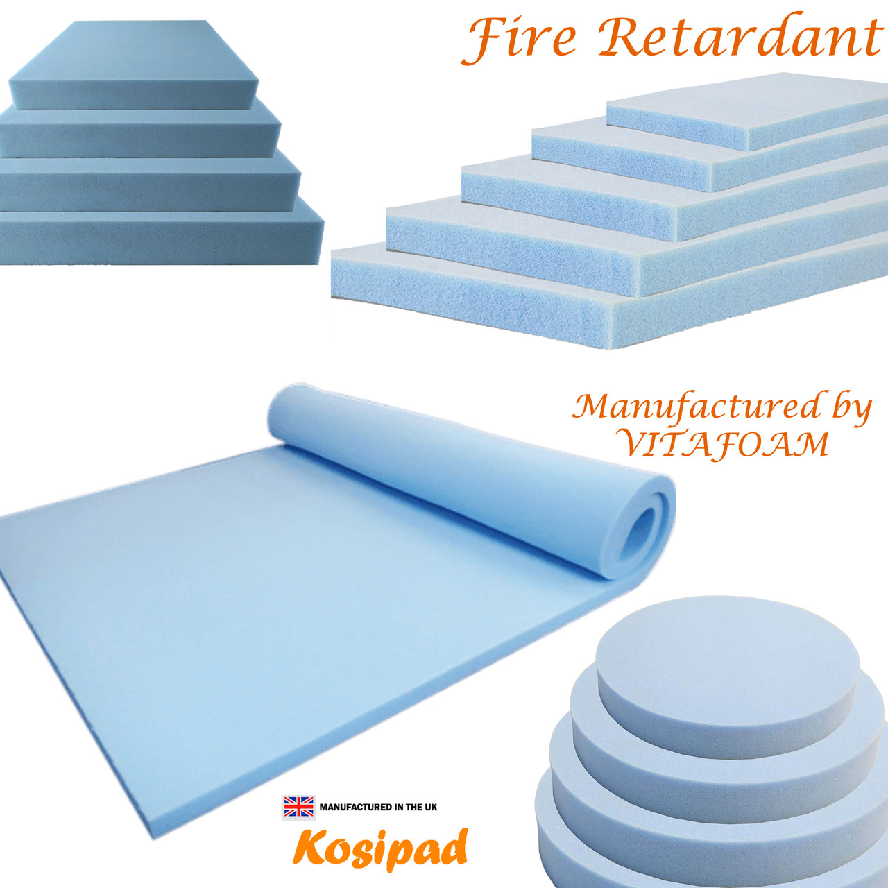 Custom Cut  foam pads for your  Upholstery, Cushion Pads, Seating, Sofa's, Patio Furniture Square