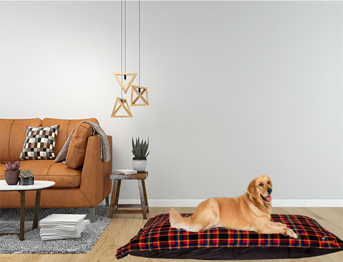 Kosipet Red Check dog bed cushion