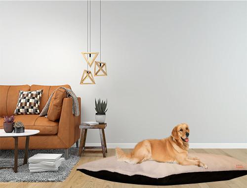 Kosipet White Sherpa dog bed cushion, machine washable,  removable covers Studio