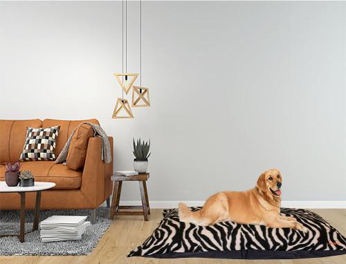 Kosipet Zebra Print Wine Colour dog beds Cushions, machine washable,  removable covers studio