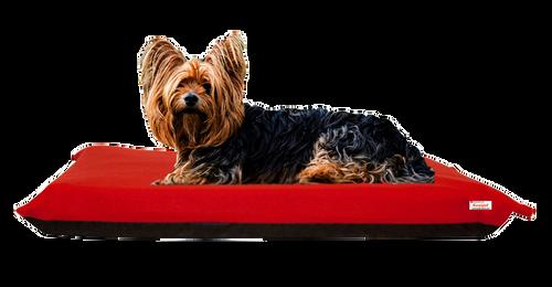 KosiPet® 15cm Pocket Sprung High Density Memory Foam Sponge Dog Pet Bed Mattress with Red Fleece Cover