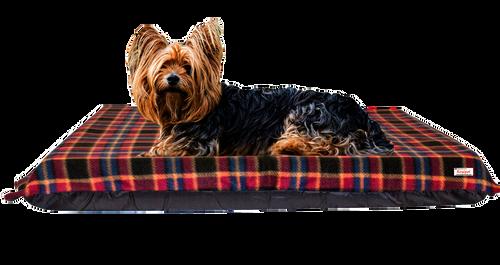 KosiPet® 15cm Pocket Sprung High Density Memory Foam Sponge Dog Pet Bed Mattress with Red Check Fleece Cover