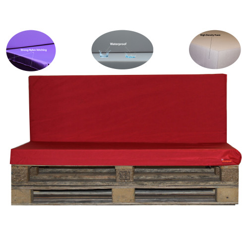 Kosipad Red pallet furniture cushions for Euro Pallets
